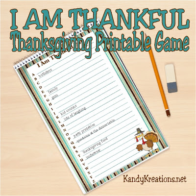 i am thankful thanksgiving game by kandykreations
