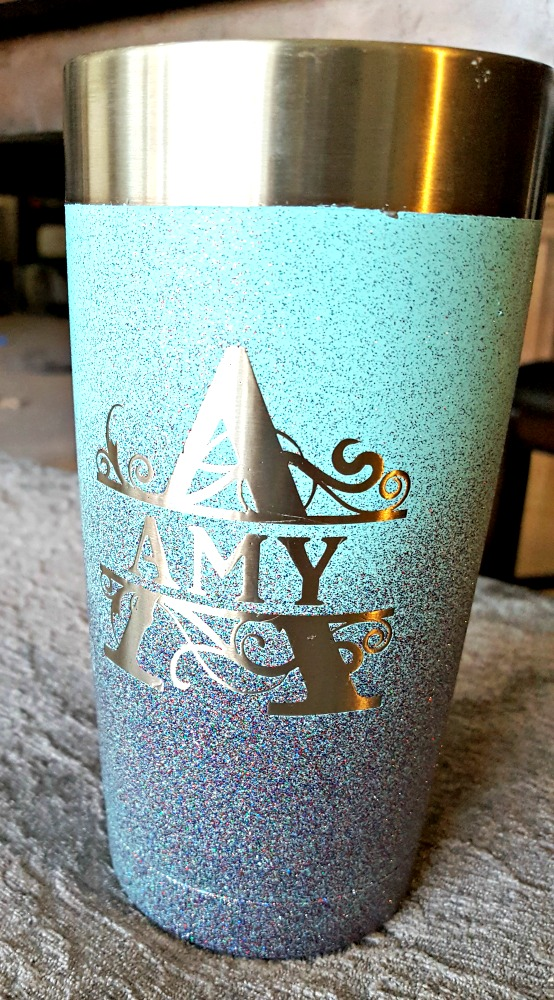 painting stainless steel mug
