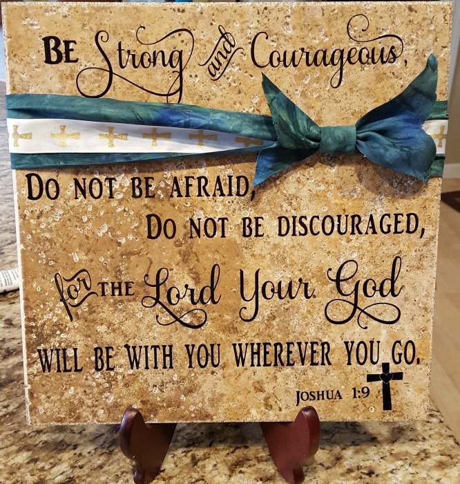personalized tile with scripture