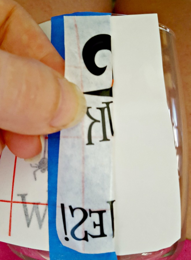 applying vinyl to glass