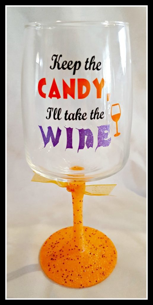 keep the candy, i'll take the wine wine glass