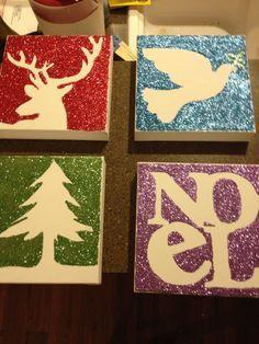 glitter Christmas decor