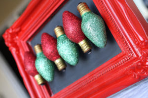 glitter Christmas decor