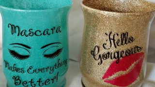 Makeup Glitter Brush Holder DIY Tutorial ~ So Easy and Fun!