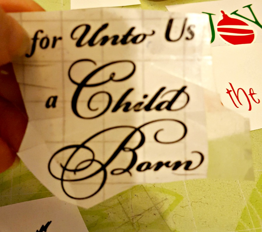 for unto us a child is born vinyl decal