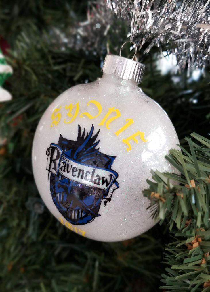 ravenclaw ornament glitter