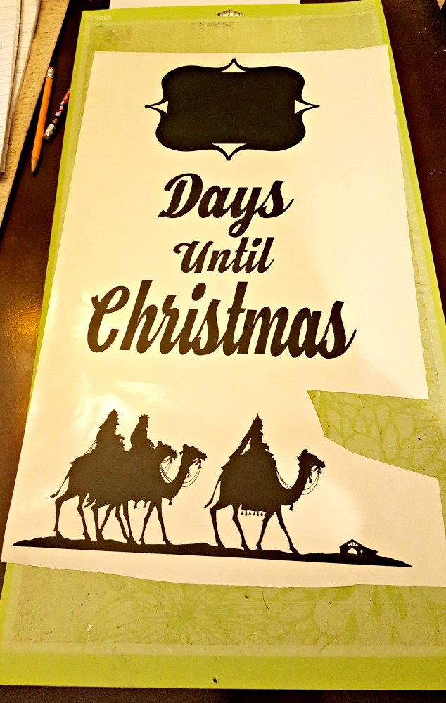 countdown christmas sign with vinyl