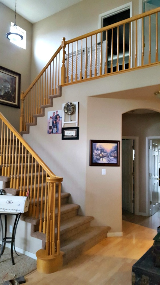 General Finishes handrail bannister makeover tutorial