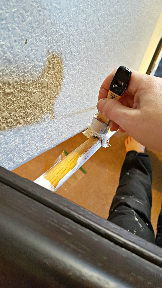 painting stair railing spindles