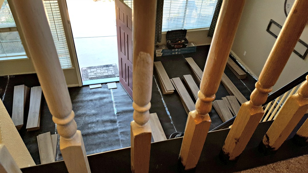 how to refinish stairs and railing