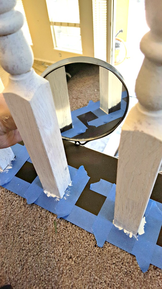tips for painting spindles on 2nd floor