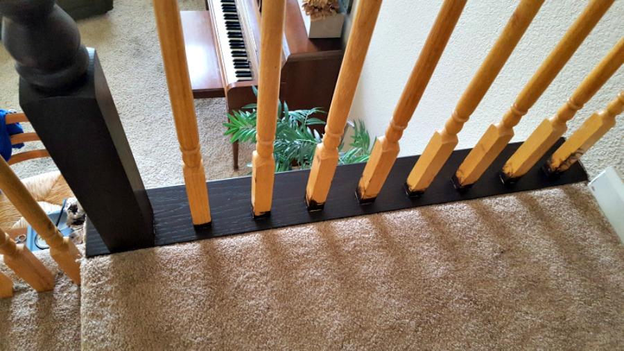 brown railing diy