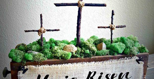 DIY Easter cross decoration tutorial