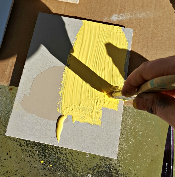 painting Easter signs with chalk paint