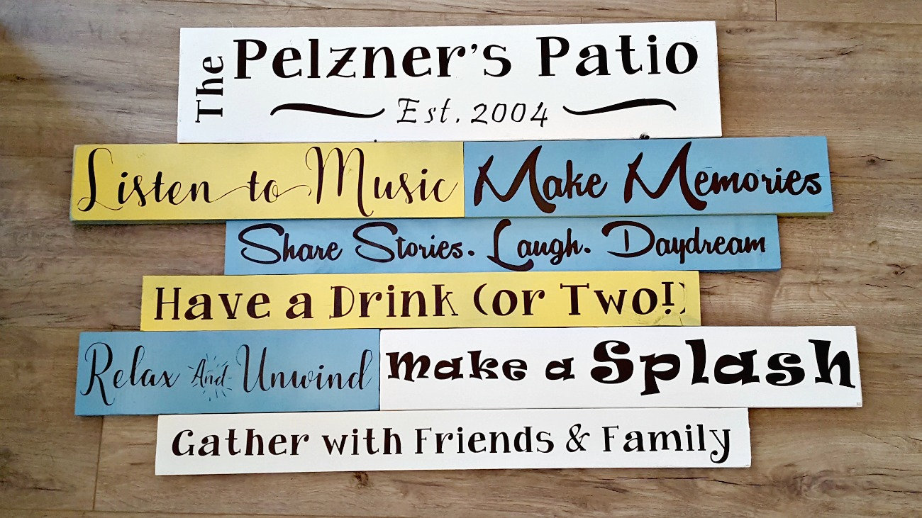 how to make patio signs with porch rules