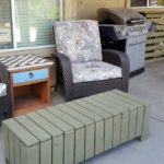 DIY coffee table storage bench outdoor