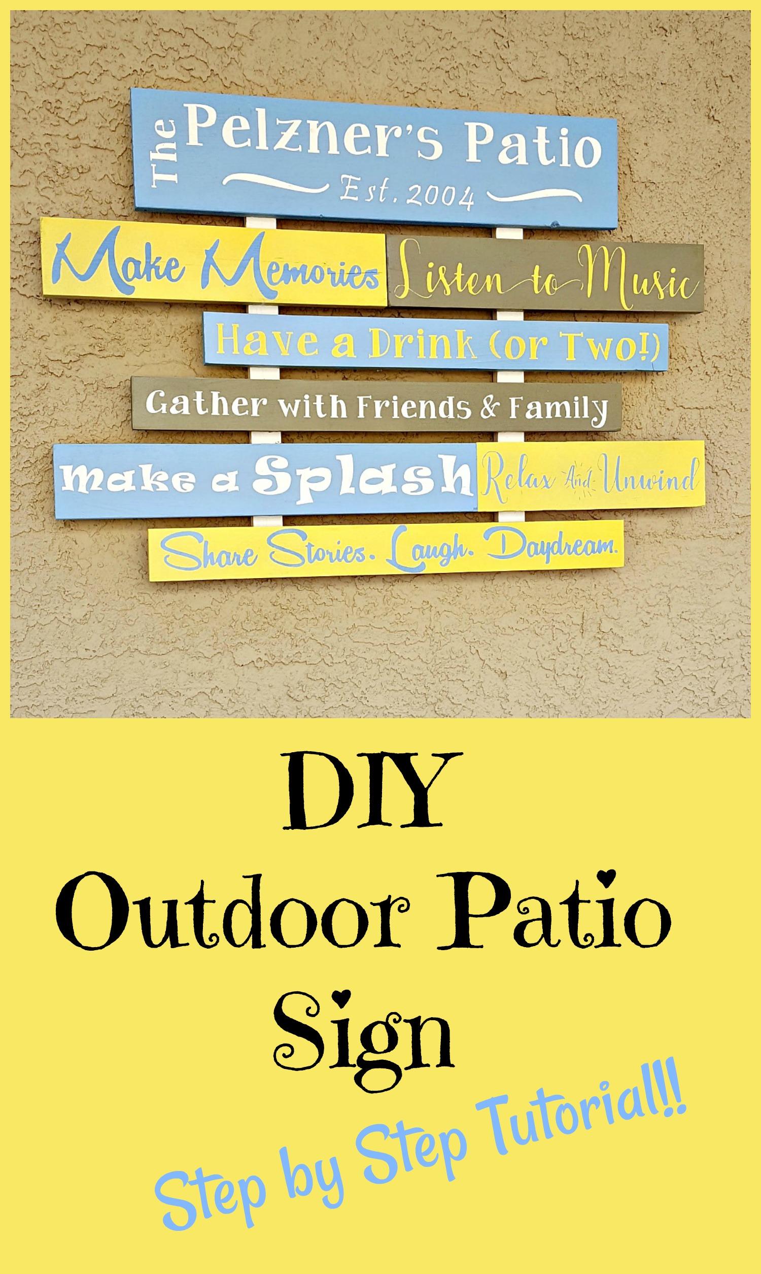 DIY Patio Sign Tutorial