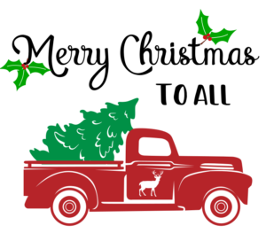Free Red Truck SVG