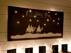 Nativity Lit Up Wall Decor DIY