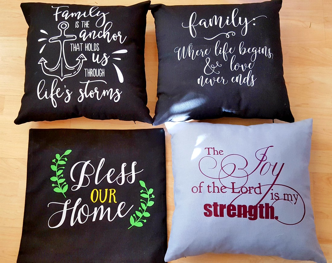 DIY Christmas pillows cricut