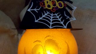 DIY Glass Bowl Jack O Lantern