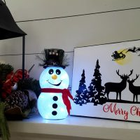 DIY Snowman with Glitter and Lights!