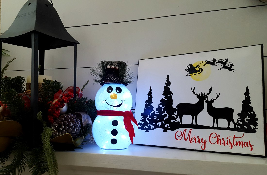 DIY snowman that lights up with fairy lights