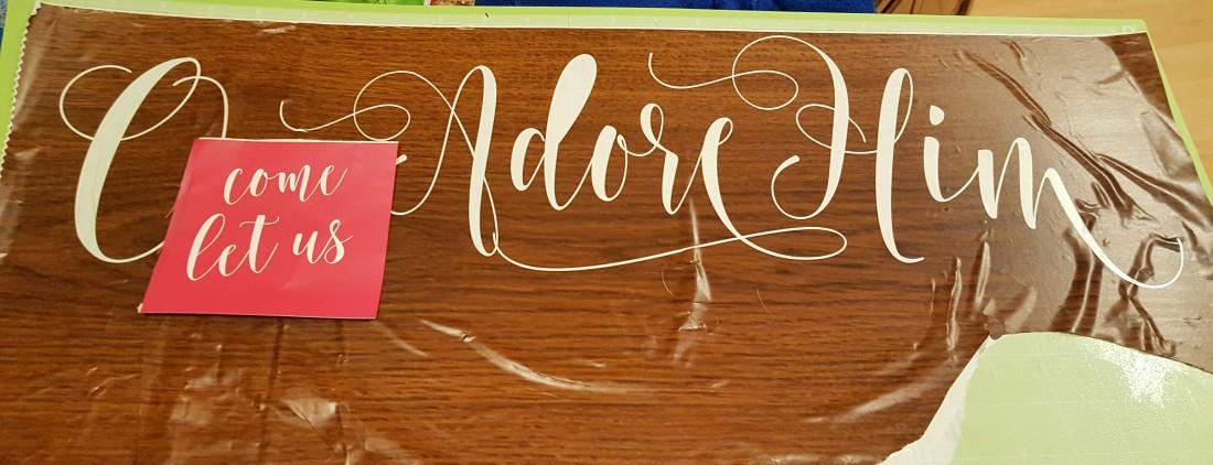 nativity DIY scene decor stencil