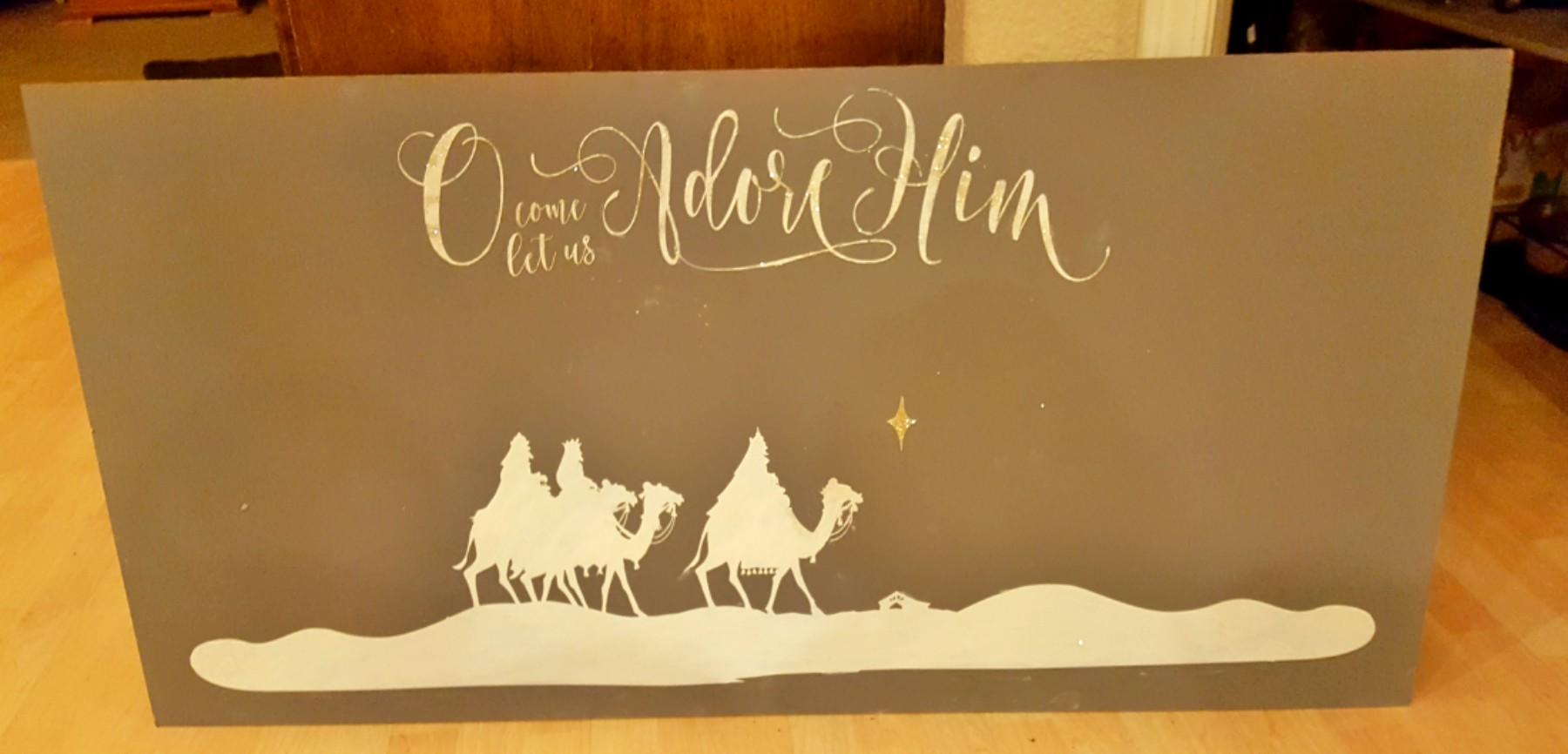 Nativity DIY Scene Sign