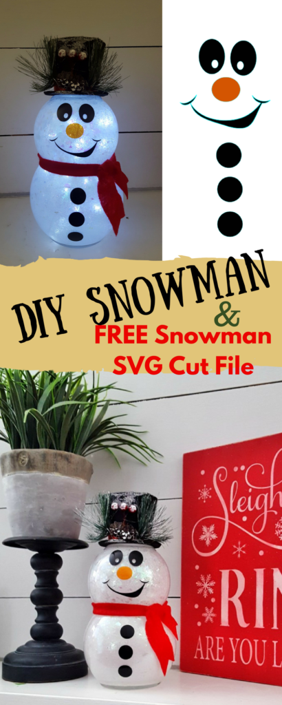 DIY Snowman FREE SVG Cut file cricut