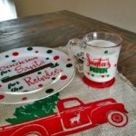 santa cookie plate and mug