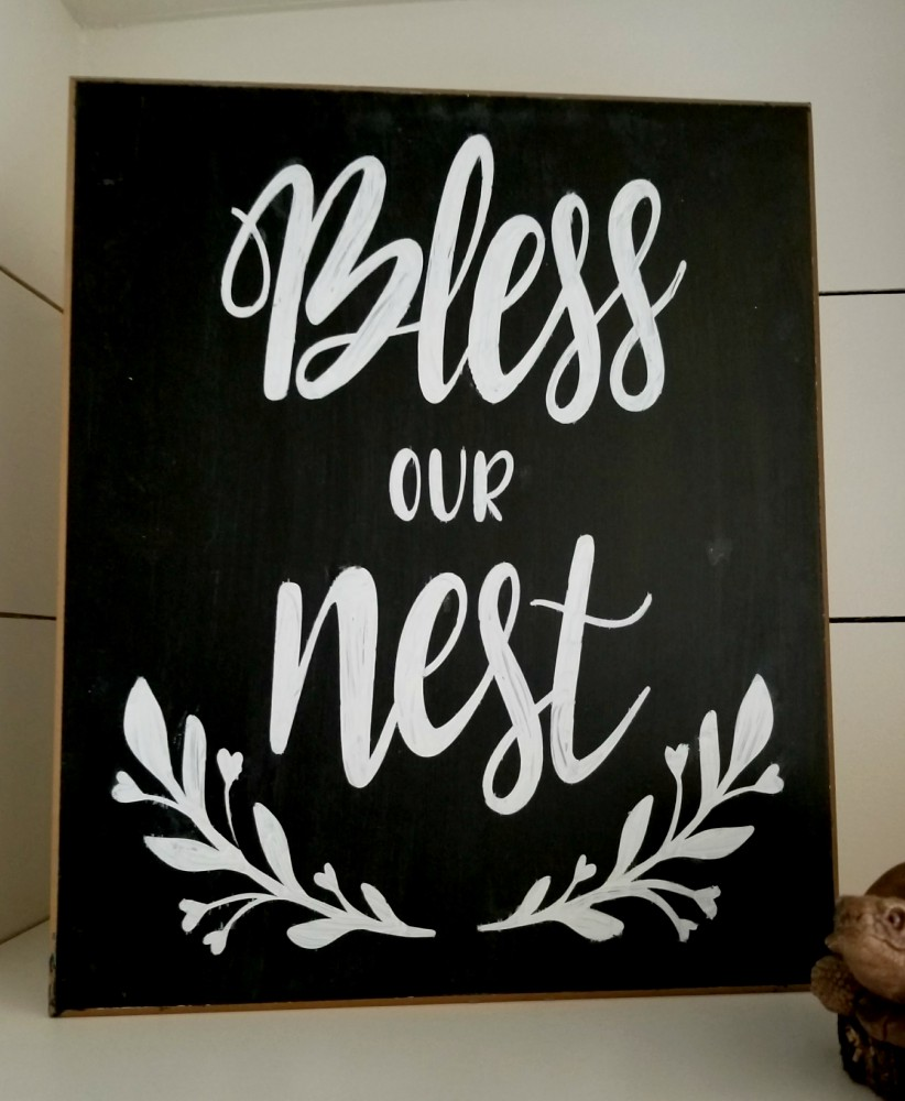 The Easiest Way To Make A Diy Chalkboard Sign Leap Of