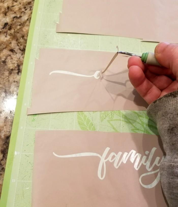 cutting stencils with cricut