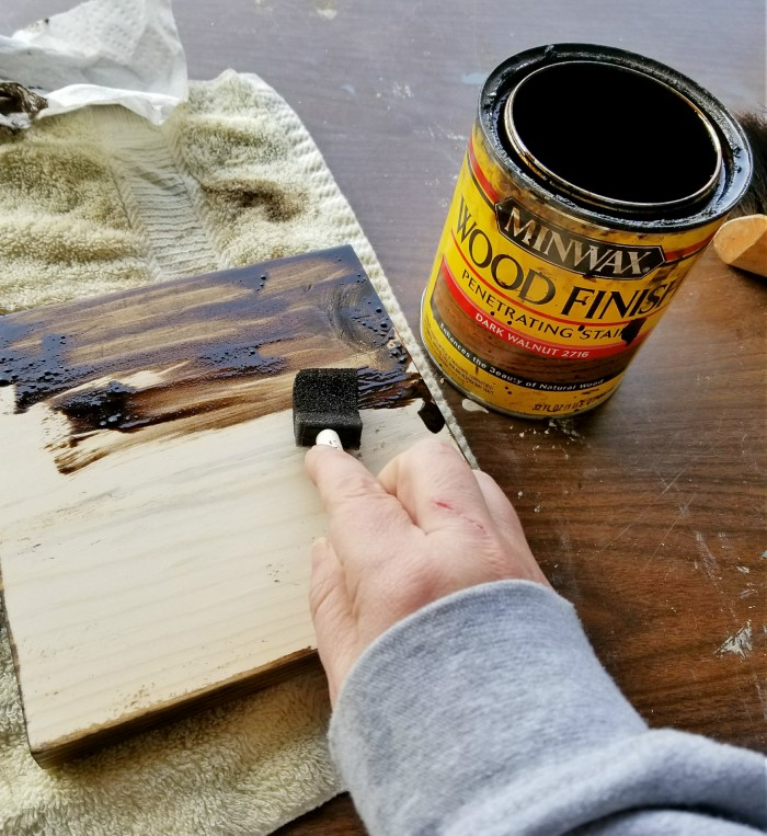 staining wood with minwax