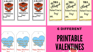 Printable Valentines for Kids:  Three Different Printable Tags!