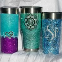 How to Make Glitter Tumblers