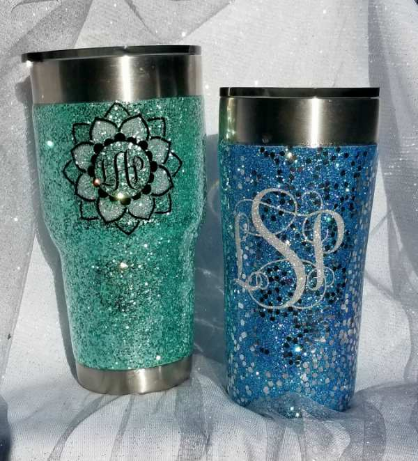 Glitter Tumbler Step by Step Pics and Video Tutorial!