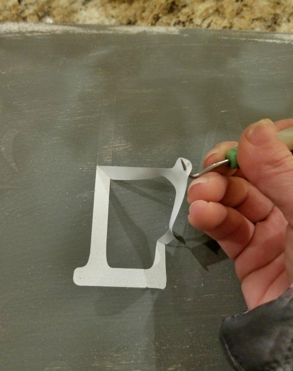 peeling off vinyl after painting top coat