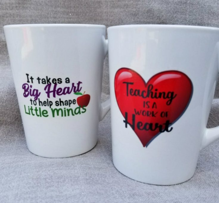 The Easiest Way to Make Personalized Teacher Mugs!