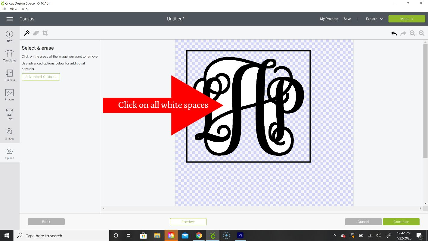 create shadow layer in cricut design space