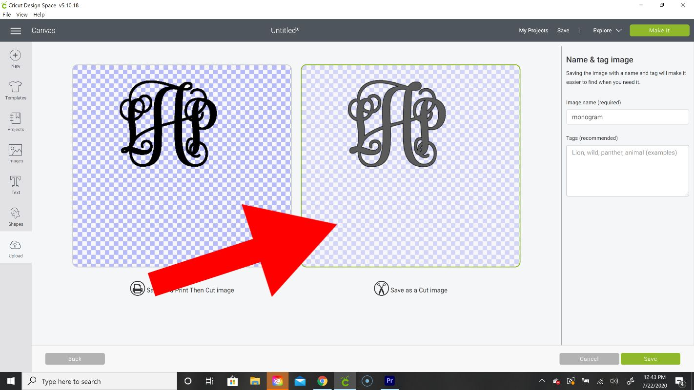 how to make a double layer monogram on cricut