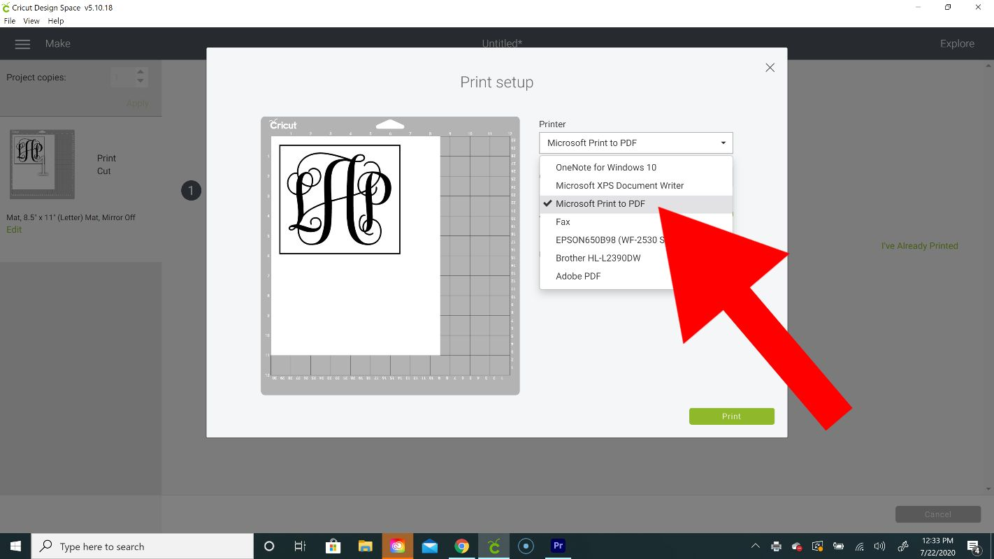 how to make a layered monogram on cricut