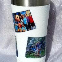 Decorated Yeti Cup or Tumblers with Pictures, Mod Podge & Glitter!