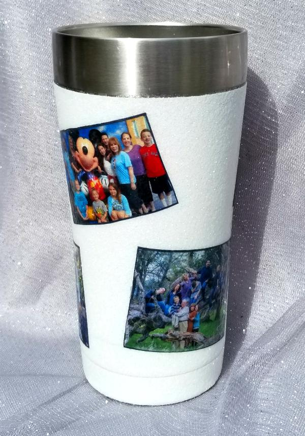 7d4f654a951ce Decorated Yeti Cup or Tumblers with Pictures, Mod Podge & Glitter ...