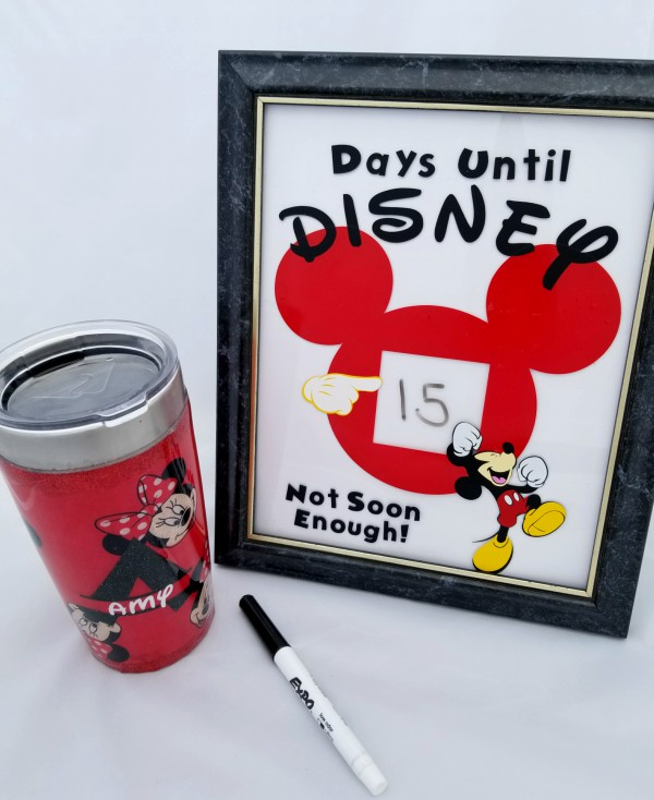 disney vacation countdown diy