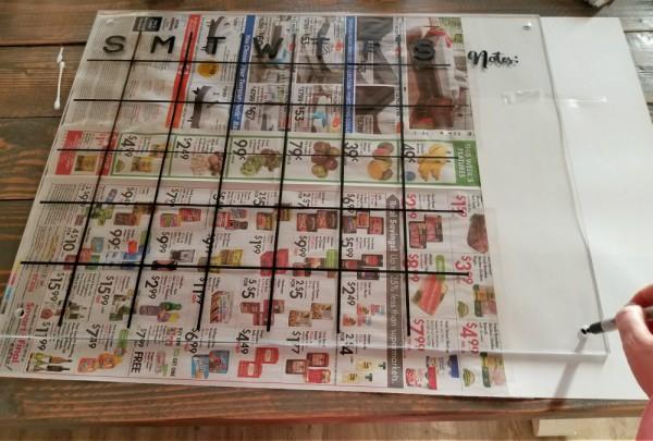 hanging diy acrylic calendar template