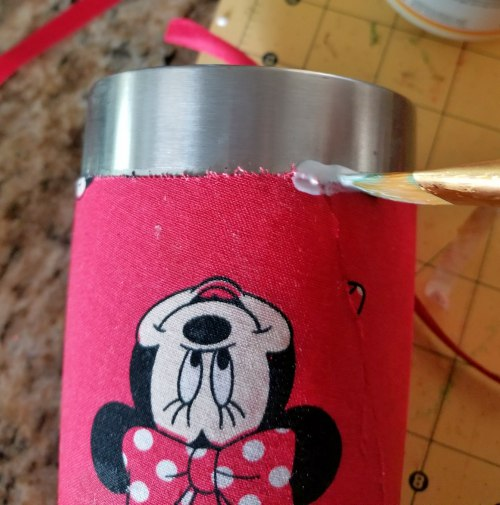 how to make a fabric tumbler