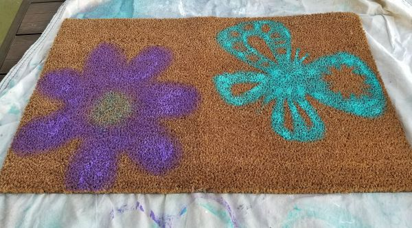 patio paint on outdoor welcome mats