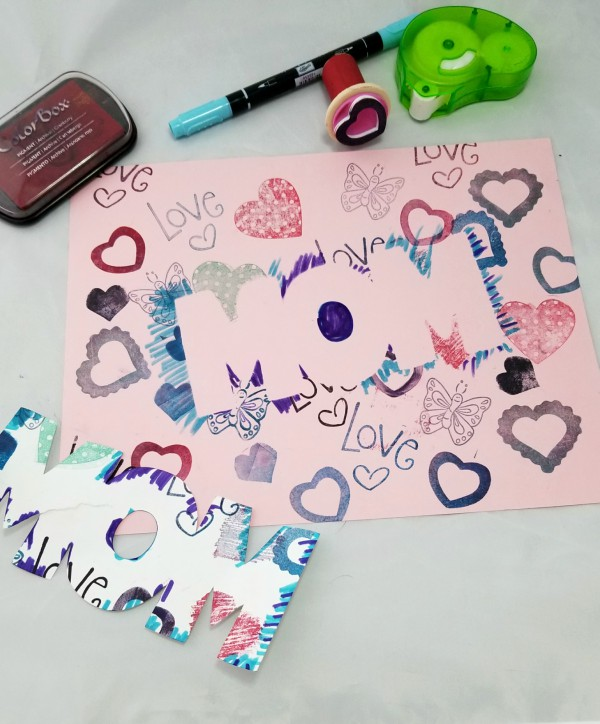 Easy and Inexpensive DIY Preschool Mother's Day Cards
