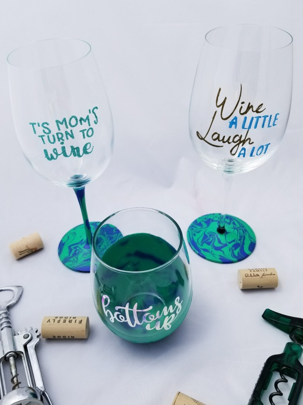 diy personalized wine glasses